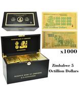 WR 1000pcs Elephant Zimbabwe 5 Octillion Dollars Color Gold Banknote Wit... - $999.00