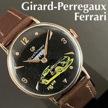 Girard Perregaux x Ferrari 1950s hand-wound, vintage, men's watch, antique, Used - $957.44