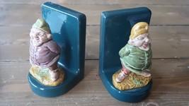 Heavy Ceramic Gnome Bookends 4.5 x 3 x 3 inches - £41.69 GBP