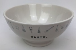 NEW Rae Dunn TASTE Ceramic Bowl Icon Collection - $12.86