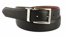 Tommy Hilfiger Men's Premium Reversible Leather Belt Black Tan 11TL08X013