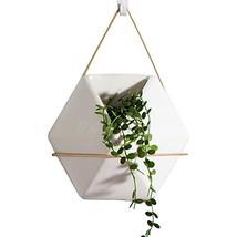 "AsureQ 8"" Ceramic Geometric Hanging Planter Succulent Flower Pot Air Pla... - €13,93 EUR"