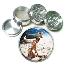 Surfer Pin Up Girls D4 63mm Aluminum Kitchen Grinder 4 Piece Herbs & Spices - $13.81