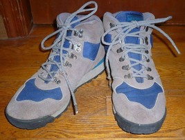 """Vtg Merrell """"Eclipse"""" GRAY/BLUE Suede Hiking Boots Air Cushion Men's Size 8.5 - $37.00"""
