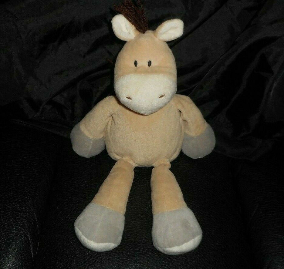 "Primary image for 13"" ANIMAL ADVENTURE 2015 BABY BROWN PONY HORSE STUFFED ANIMAL PLUSH TOY LOVEY"