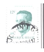 BELGIUM USED STAMP 12F MAN STATUE CROWN A951 - $1.32 CAD