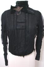 Rare Victorian NAT'L CLOAK & SUIT CO Black Net Lace US Pat Beaded Bow Bl... - $449.99