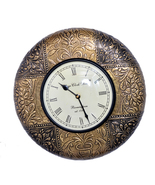 "12"" Antique Brass FTD Decorative Wall Clock Wooden Wall Clock/Vintage Wa... - $92.95"