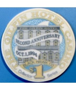 $1 Casino Chip. Gilpin, Black Hawk, CO. 2nd Anniversary. V74. - $4.29