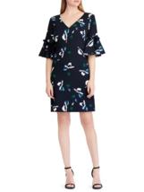 Lauren Ralph Lauren womens Petite Bell-Sleeve Shift Dress 4p navy multi ... - $31.68