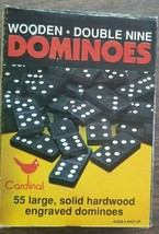 Cardinal Double Nine Wooden Dominoes Complete Set of 55 Never Used NOS - $9.89