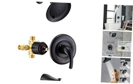 Shower Faucet,Tub and Shower Trim Kit (Valve Included) with 3-Spray Sho... - $200.29