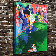 "Leroy Neiman ""Playing Billiard"" HD Print on canvas large wall picture 30... - $46.52"