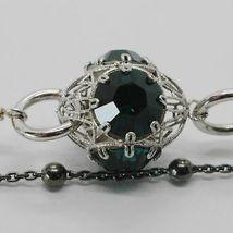 Silber Armband 925 Rhodium und Brüniert mit Kristallen Bunt Made in Italien image 4