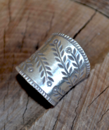 sterling silver ring, wide ring, Boho ring, wide silver Boho ring, Triba... - $49.99