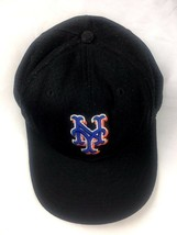NEW ERA Baseball Hat NY METS Black Fitted Size 7 1/8 - £10.23 GBP