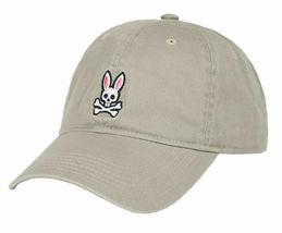 Psycho Bunny Men's Cotton Embroidered Strapback Sports Baseball Cap Hat image 12