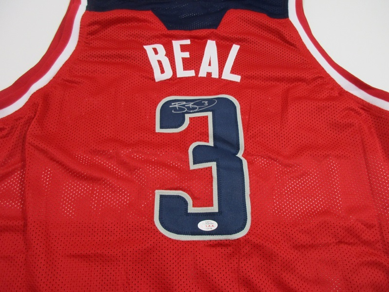 608e521c96a4 BRADLEY BEAL - HAND SIGNED WASHINGTON WIZARDS CUSTOM BASKETBALL JERSEY - COA