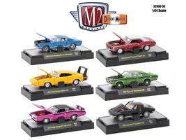 Detroit Muscle 6 Cars Set Release 35 IN DISPLAY CASES 1/64 Diecast Model Cars by - $65.98
