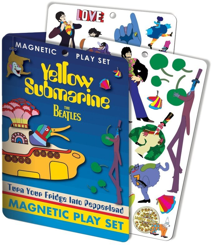 Yellow submarine magnet set