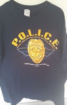 Black T-Shirt with P.O.L.I.C.E. across front acrostic for a Christian sa... - $8.56