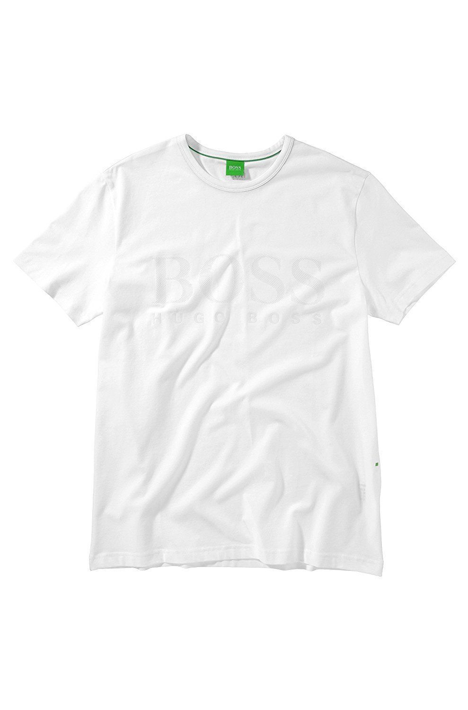 NEW MEN'S HUGO BOSS GRAPHIC SHORT SLEEVE CREW NECK T-SHIRT SHIRT WHITE 50236203