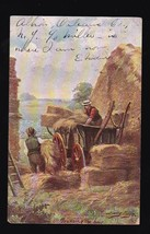 Trussing The Hay Vintage Postcard Artist Signed Harry Payne - $6.78
