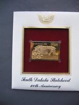 SOUTH DAKOTA STATEHOOD 100TH 22kt Gold GOLDEN Cover replica FDC 1989 STAMP - $5.19