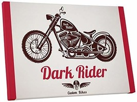 "Pingo World 0725QR2ZDI4 ""Dark Rider Motorcycle"" Gallery Wrapped Canvas Wall Art, - $138.55"