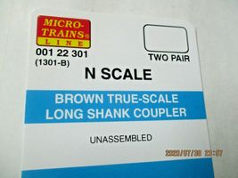 Micro-Trains Stock #00122301 True -Scale Brown Long Shank Coupler  (1301-B) (N) image 3