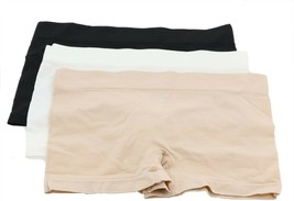 Breezies Seamless Boyshort Panties Set 3 Basic L NEW A301425 - $15.82