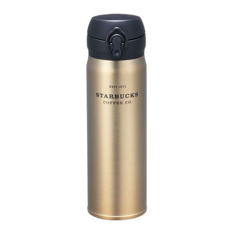 Starbucks Korea JNL Gold Heritage Thermos Tumbler, Grande 16oz (500ml)