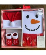 Hudson Baby My 1st Christmas Set 4 Piece - Size 0-6 Months New Holiday O... - $16.82
