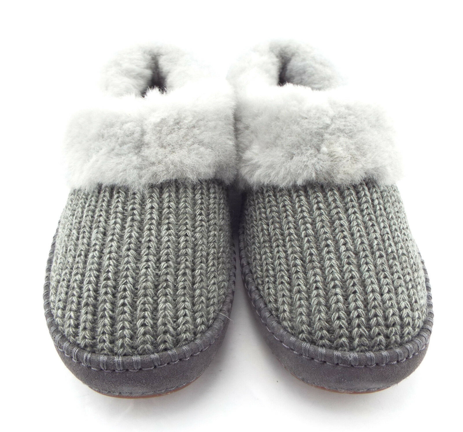 4183ad896e4 New UGG Size 11 WRIN Gray Knit Slippers w/ and 50 similar items