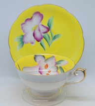 Teacup Saucer Occupied Japan Yellow Flower Shafford Hand Painted Tea Cup - $13.30