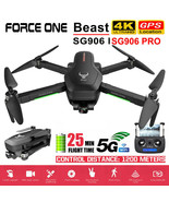Force One SG906 Pro Foldable GPS RC Drone with 4K HD Camera 2 Axis Anti-... - $29.99+