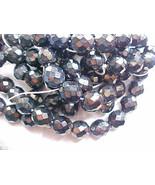 12mm Firepolish Faceted Black Iris Czech Beads Glass Round Destash Jablo... - $12.88
