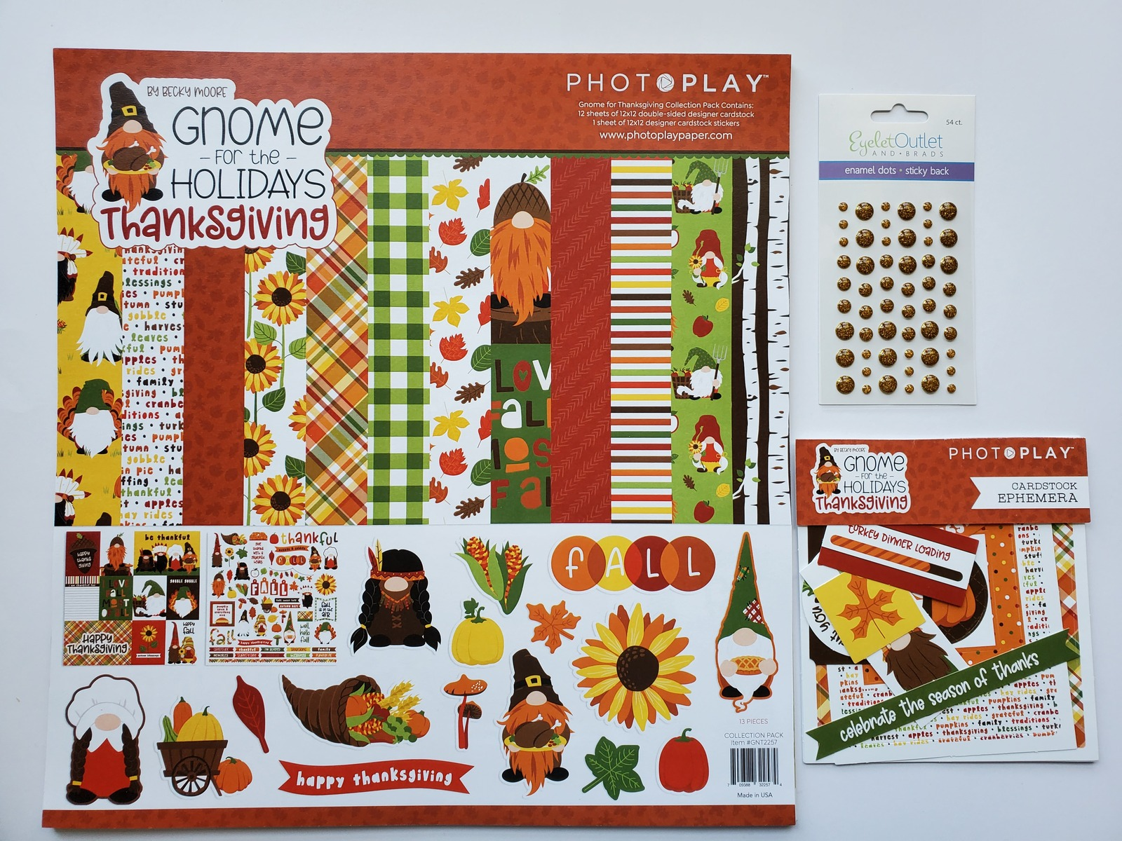 Gnome For Thanksgiving Holidays.  BASIC Kit.  CLEARANCE