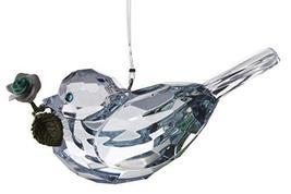 Gnz Crystal Expressions 3 Inch Rose Bird Ornament/Sun Catcher (Lt-Blue) - $7.43