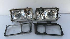 86-93 Mercedes W124 260E 300E 300D 300TE 400E Euro E-Code Headlight Lamps Set LR image 10