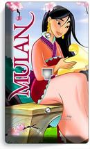 CHINESE PRINCESS MULAN AND DRAGON PHONE TELEPHONE WALL COVER PLATE HD RO... - $11.99