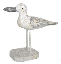 "WorldBazzar 13"" Hand Carved Rustic Wood Dockside Seagull Art Tropical Na... - $24.69"