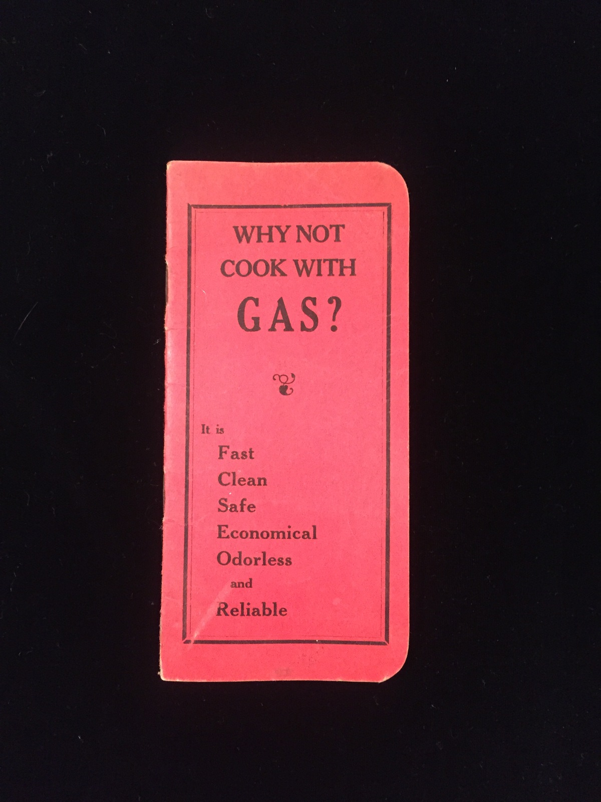 "Vintage 1929/30 ""Why not cook with GAS?"" pocket notebook"