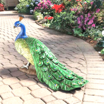 The Regal Peacock Garden Statue - Large - $171.95
