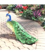 The Regal Peacock Garden Statue - Large - $183.99