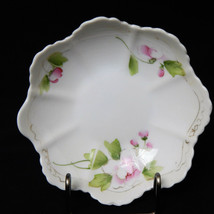 """Vintage Hand Painted Pink Roses Nippon Candy Nut Dish 5.5"""" - $19.99"""