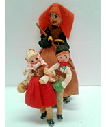 BAPS Dolls Hansel & Gretel & The Old Witch Vintage Germany Wicked Wood p... - $169.00