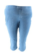 Isaac Mizrahi Petite Knit Denim Capri Jeans Light Indigo 22P NEW A306575 - $32.65