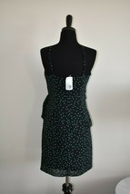New NWT Forever 21 Black Turquoise Polka Dot Knee Length Dress Size M Medium image 2