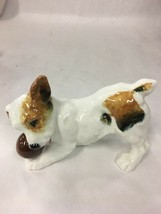 ROYAL DOULTON FIGURINE PUPPY DOG JACK RUSSELL TERRIER PLAYING WITH BALL ... - $52.46